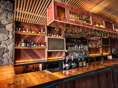 The bar at Sycamore Den in Normal Heights San Diego.