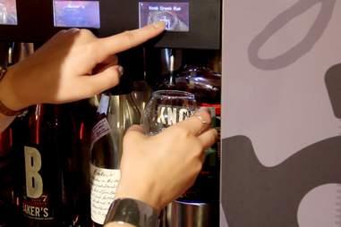 The enomatic bourbon taps at Jim Beam's American Stillhouse
