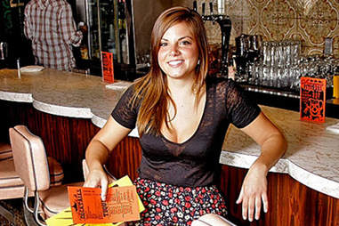 the hostess at stephen starr's el rey restaurant