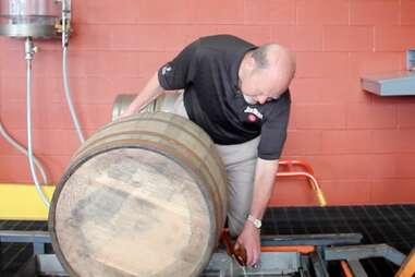 Fred Noe barrel sampling at Jim Beam