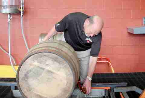 Fred Noe barrel sampling at Jim Beam