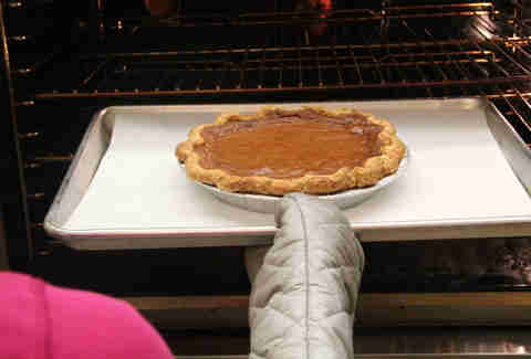 a pie coming out the oven at Magpie