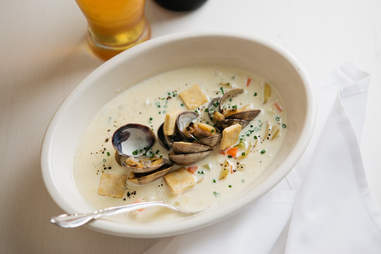 Clam chowder at Fishing With Dynamite, Manhattan Beach, Los Angeles