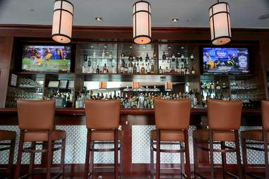 The bar at Wolfgang's Steakhouse Miami