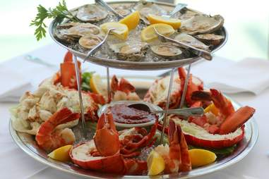Seafood sampler at Wolfgang's Steakhouse Miami