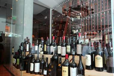 Wine room at Wolfgang's Steakhouse Miami