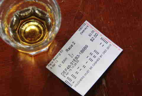 racing ticket and shot at Celtic Tavern