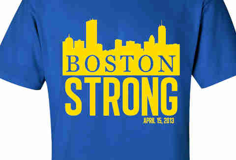 Boston Skyline Marathon Tribute Tee