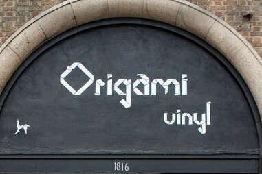 Sign at Origami Vinyl