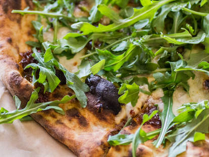 Arugula pizza at Pieous