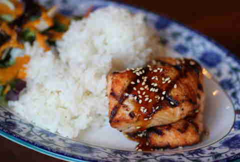 Salmon at Glaze Teriyaki Grill