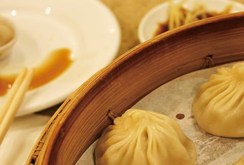 Soup dumplings at Din Tai Fung