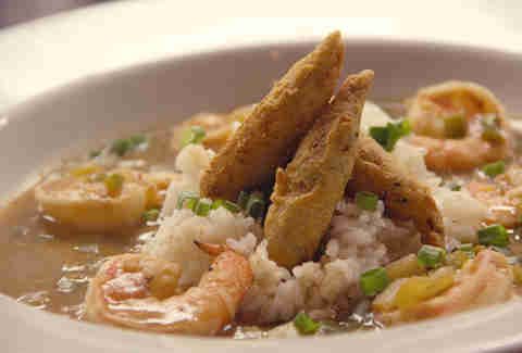 Shrimp etoufee at Strangelove's
