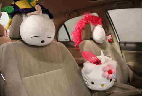 A Hello Kitty Lyft