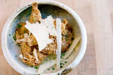 Deep-fried quail at State Bird Provisions