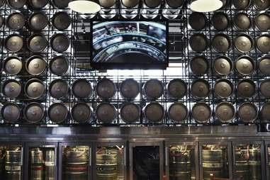 The wall of kegs at Public House
