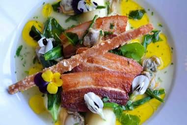 crispy pork cheek salad at Bird of Smithfield