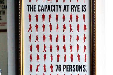 The capacity at Rye sign