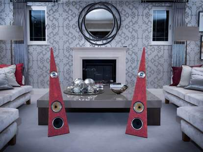Speakers from Rinz Sound in a living room