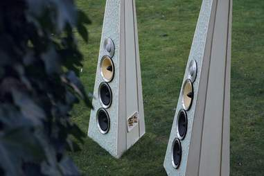 Speakers from Rinz Sound in the grass