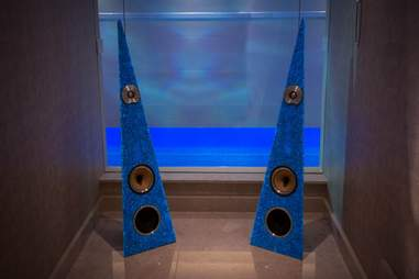 Blue speakers from Rinz Sound