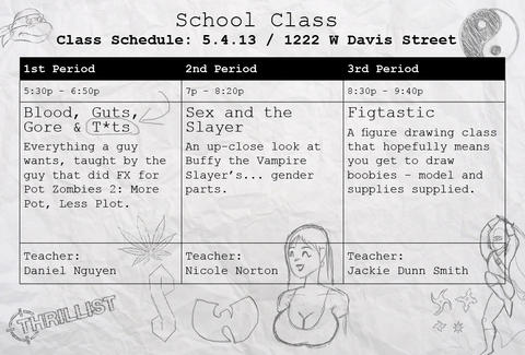 The first schedule at School Class