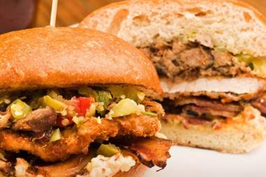 The Triple Threat Pork Sandwich from Carnitas Snack Shack in San Diego.