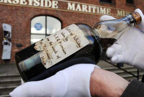 A bottle of shipwrecked whisky