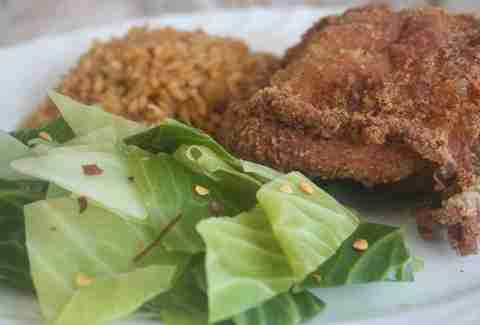 Fried chicken at Coast Cafe