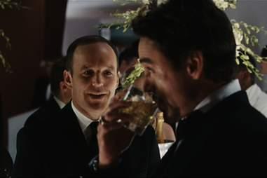 Tony Stark drinks scotch in Iron Man.