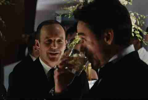 Tony Stark drinks scotch in Iron Man.