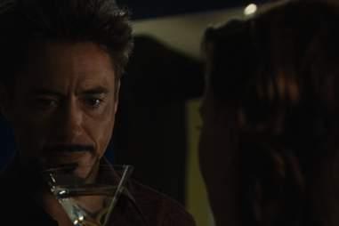 Tony Stark drinks a dirty martini in Iron Man 2.