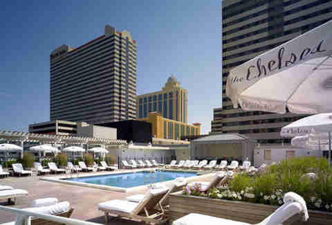 The secluded rooftop pool at The Chelsea