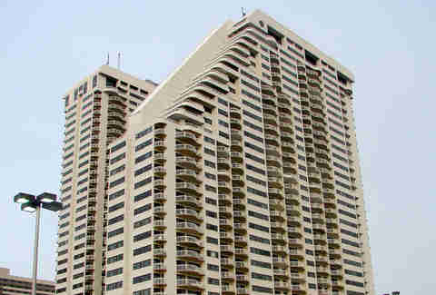 The highrise condominiums at Ocean Club