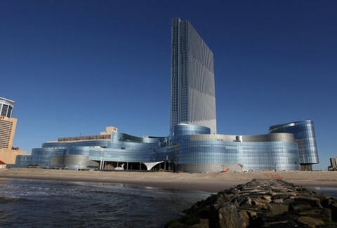 The facade of Revel Resorts in Atlantic City