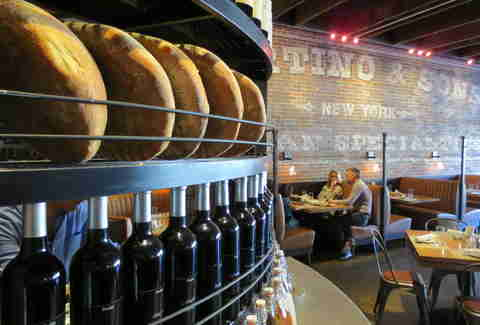 Wine and breads at Racanelli's