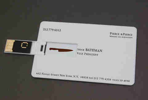 american psycho the musical business cards