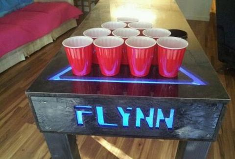 Tron Beer Pong Table