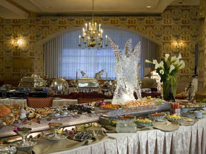 Inside brunch at Brown Palace Hotel in Denver