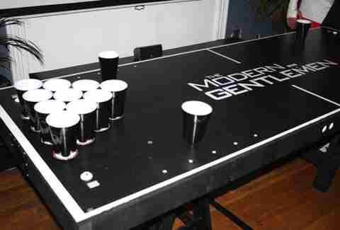 The Modern Gentlemen Beer Pong Table