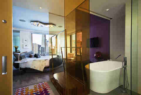 W New York - Times Square Extreme WOW Suite Bedroom/Bathroom