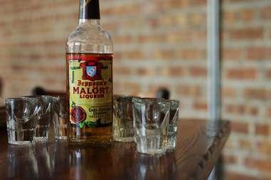 A bottle of Malort