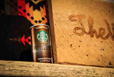 A can of Starbucks Doubleshot Espresso