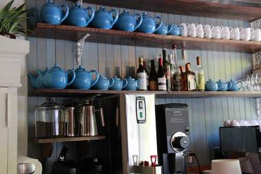 The coffee bar at Din Din Supper Club.