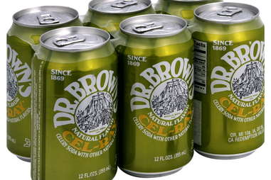 Six-pack of Dr. Brown's Cel-Ray celery soda