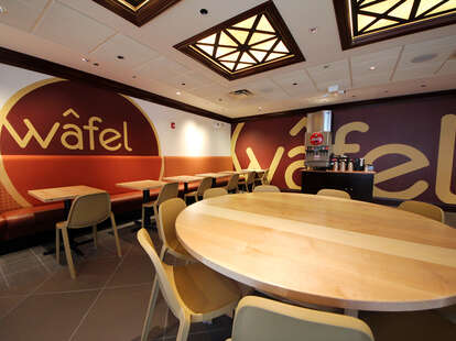Interior of Wafel in West Loop