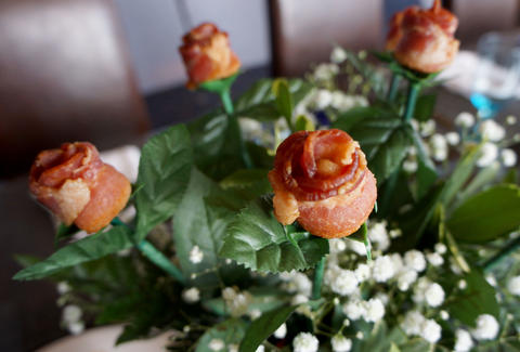 The Tropicana's long-stem Bacon Roses