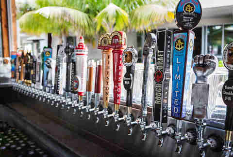32 beers on tap at the Bier Garden Encinitas.