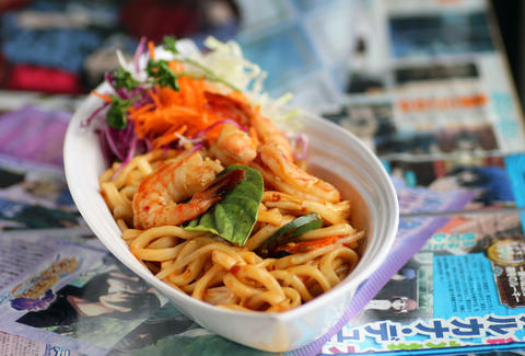 Hangover Udon noodles from Gari Sushi in Ukrainian Village