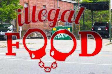 Illegal Food signage
